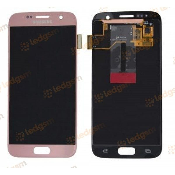 Display Samsung S7 (G930) Roz Auriu Original